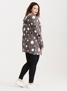Mickey & Minnie Collection Print Hooded CardiganMickey & Minnie Collection Print Hooded Cardigan,