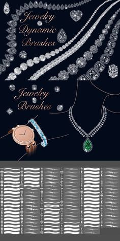 You will get 52 well organized jewelry dynamic brushes .abr file) These brushes are compatible with Photoshop CC. Brosses Photoshop, Photoshop Brushes, Digital Art Beginner, Boyfriend Photos, Jewelry Drawing, Ipad Art, Digital Art Tutorial, Editing Pictures, Jewelry Organization