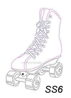 Roller skate rhinestone iron on transfer by TheBlingLady