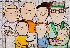 Manyung Gallery Group Eva  Armisen Retrato de familia - Family Portrait Eva Armisen, Group Art, Australian Art, Children And Family, Face Art, Caricature, Family Portraits, Sculpture Art, Contemporary Art