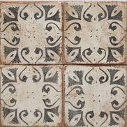 french backsplash terracotta tile painted - Google Search