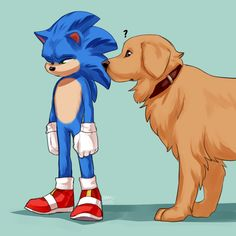 Donuts and Sushi — Do you think Sonic would ride Ozzy the dog around... Sonic The Hedgehog, Hedgehog Movie, Hedgehog Art, Silver The Hedgehog, Shadow The Hedgehog, Sonic And Amy, Sonic And Shadow, Sonic The Movie, Sonic Unleashed