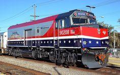 Amtrak 90208 NPCU at Burbank, CA