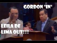 """Leila De Lima """"Out"""" Dick Gordon """"In"""" as Chair In Committee On Justice Frank Drilon, Allan Peter Cayetano, Manny Pacquiao, Risa . Philippine News, September 19, Lima, Chair, Limes, Stool, Chairs"""