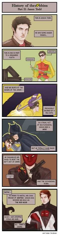 History of the Robins part II: Jason Todd Nightwing, Batgirl, Tim Drake, Im Batman, Batman Robin, Robins, Nananana Batman, Red Hood Jason Todd, Bat Boys