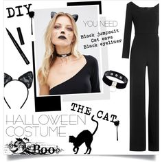 How To Wear DIY Halloween Costume The Cat Outfit Idea 2017 - Fashion Trends Ready To Wear For Plus Size, Curvy Women Over 20, 30, 40, 50