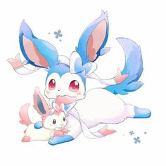 Shiny Sylveon so cute!!! Has a baby sylveon too...adorable!!!