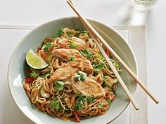 Chilled Peanut Chicken Noodle Salad — Most Popular Pin of the Week