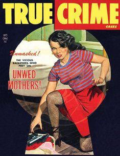 True Crime (Sep – Giclée Canvas Print of a Vintage Pulp Detective Magazine Cover - bigoltrucks True Crime, 1950 Pinup, Pulp Magazine, Magazine Covers, Adventure Magazine, Man Cave Art, Pulp Fiction Book, Mystery, True Detective