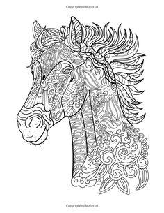 horses colorish coloring book app for adults mandala