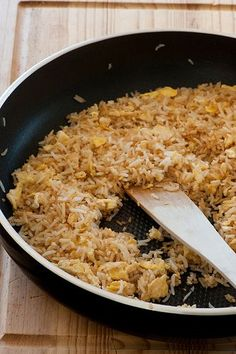 Egg Fried Rice (A quick lunch to make as there's always leftover rice and an egg in my fridge.)