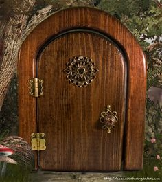 """Sun Fairy Door"" from from Enchanted Gardens © (www.miniature-gardens.com)"