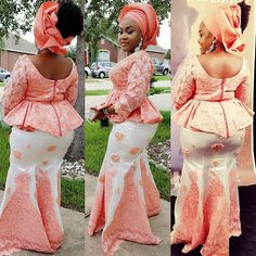 Hot and Gorgeous Lace Skirt and Blouse Styles for African Fashionable Ladies...Hot and Gorgeous Lace Skirt and Blouse Styles for African Fashionable Ladies