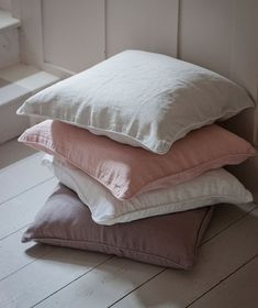 Cassis Rose Pink Linen Cushion Cover | The Linen Works (London)