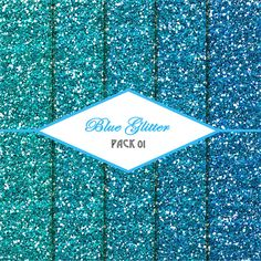 Digital Scrapbooking - Blue Glitter Pack by CreativePaperDigital  Stop by my Etsy Shop: www.etsy.com/shop/TeoldDesign