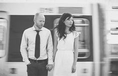 A fun series from a subway engagement session.