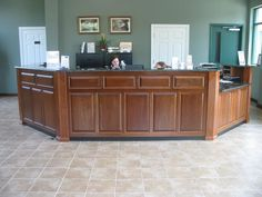Wooden Reception Desk For Office Aesthetic Appereance | My Office ...