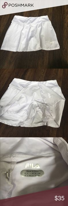 Women's fila white tennis skirt Brand new without tags. 14 inches Fila Skirts Mini