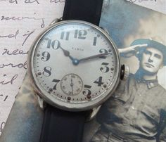 Men's 1918 Elgin Oversized Trench Watch | Strickland Vintage Watches