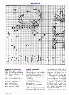 Best Witches Pillow • 2/3 LHS Chart