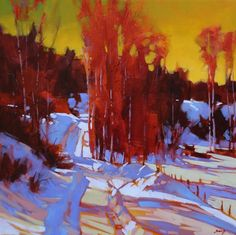 Mike Svob Artwork in Canada House Gallery Landscape Art, Landscape Paintings, Painting Snow, Canadian Art, Paintings I Love, Painting Techniques, Painting Inspiration, Illustration Art, Illustrations