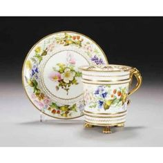 SWANSEA CABINET CUP AND SAUCER CIRCA 1814-26