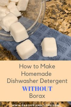 How to Make Homemade Dishwasher Detergent Without Borax – Earth Friendly Tips Learn how easy it is to make homemade dishwasher detergent without borax. This DIY dishwasher detergent will keep harmful chemicals off your dishes and out of the water supply. Deep Cleaning Tips, House Cleaning Tips, Natural Cleaning Products, Cleaning Hacks, Homemade Cleaning Supplies, Natural Cleaning Recipes, Diy Hacks, Homemade Dishwasher Detergent, Homemade Toilet Cleaner