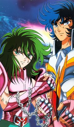 "Ikki and Shun ""Saint Seiya""."