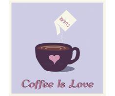 DIGITAL INSTANT DOWNLOAD, Purple Valentines Coffee Clip Art Vector, Digital Scrapbook Clipart Elements