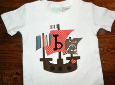 Pirate Ship Applique Shirt or Onesie