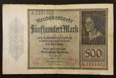 Banknote: German Note Weimar Republic Reichsbanknote 500 Germany - Collector'S Choice
