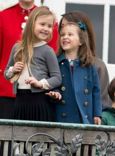 April 16, 2017. Princess Josephine and Princess Athena at the 77th birthday celebrations of Danish Queen Margrethe.