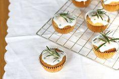 Nutmegs, seven: Rosemary honey cupcakes