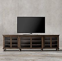 Annecy Metal-Wrapped Glass Large Media Console