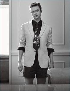 Craig McDean photographs Dane DeHaan in a Hermes blazer and shirt with E.Tautz shorts.