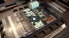 This year {2011} The Royal Danish Academy of Fine Arts, School of Design establishes a LETTERPRESS STUDIO. This video shows a few Visual Communication Master students…
