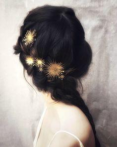 pretty bridal hair accessories by luna bea Pretty Hairstyles, Wedding Hairstyles, Hairstyle Ideas, Bridal Hairstyle, Fairy Hairstyles, Romantic Hairstyles, Christmas Hairstyles, Curly Hairstyles, Straight Hairstyles
