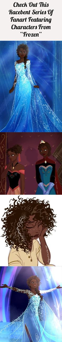"This series of racebent ""Frozen"" fanart is AMAZING"