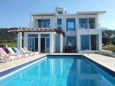 STUNNING Cliff top villa overlooking the sea - Image 1 - Kyrenia - rentals 900e per week in sept.