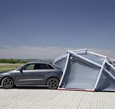 Camping made easy with the camping tent for Audi Q3  #camping #campingtentsdecoration