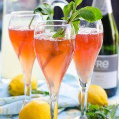 Pomegranate Lemon Sparkler- perfect for spring get-togethers!