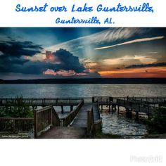 Sunset over Lake Guntersville, Guntersville, AL, John McQuiston.