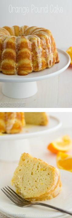 Orange Pound Cake | crazyforcrust.com | A pound cake made with greek yogurt and oranges for a zesty citrus flavor!