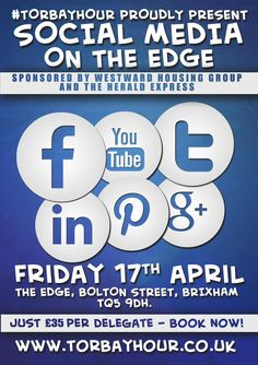 In April, the guys from #TorbayHour are launching their very first Social Media Conference, pop over to our blog for all the details.