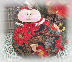 Christmas With My Cat by Lisa Johnson on Etsy
