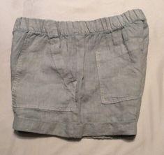 7f2cbd6aad NWOT Bella Dahl Women's Sporty Rolled Cuff Shorts Blue Size SMALL 100%  Linen | eBay