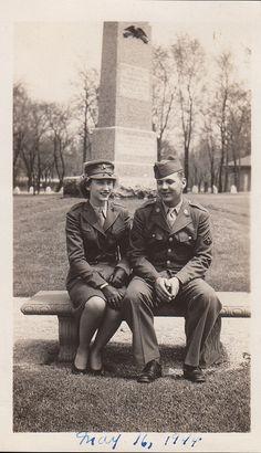 WWII Woman Marine, Army Technician, 1944 by hoosiermarine, via Flickr