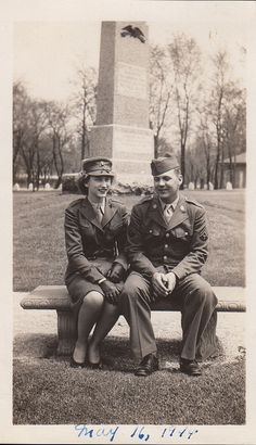 WWII Woman Marine and Army Technician, 1944 ~
