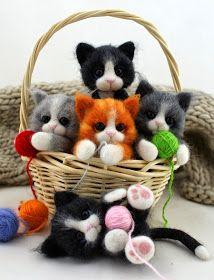 Fart filc i nie tylko: Koszyk szcześcia ;) Cats of felt
