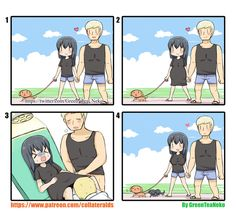 Creepy Pictures, Funny Pictures, You Funny, Funny Cute, Anime Meme, Manga Anime, Green Tea Neko, Fan Art Anime, 4 Panel Life